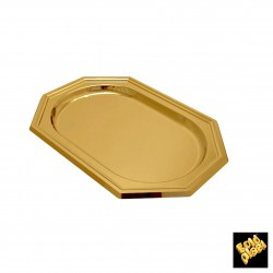 Plastový podnos Octagon Maxi 460x310mm, Gold Plast - zlatý