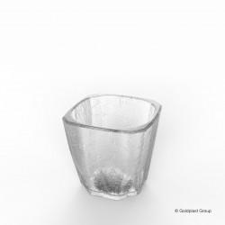 Plastová sklenice Shot cube, 40ml, nerozbitná - Gold Plast
