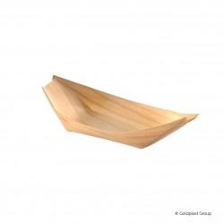Jednorázová miska (lodička) 14,5cm, dřevěná, plně rozložitelná, ekologická - Gold Plast