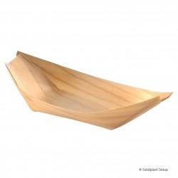 Jednorázová miska Maxi (lodička) 22cm, dřevěná, plně rozložitelná, ekologická - Gold Plast