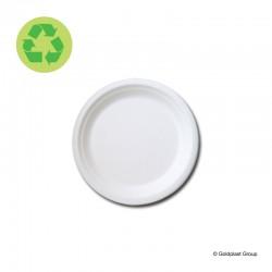 Dezertní talíř, jednorázový, kompostovatelný, Ø180mm, GoldPlast