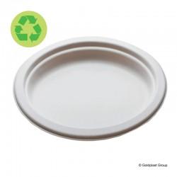Velký oválný talíř, kompostovatelný, 310x250mm, GoldPlast