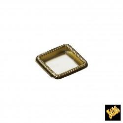 Plastový podnos čtverec 43mm, zlatý - Finger Food
