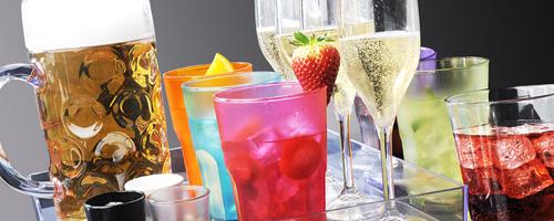nerozbitné plastové poháre